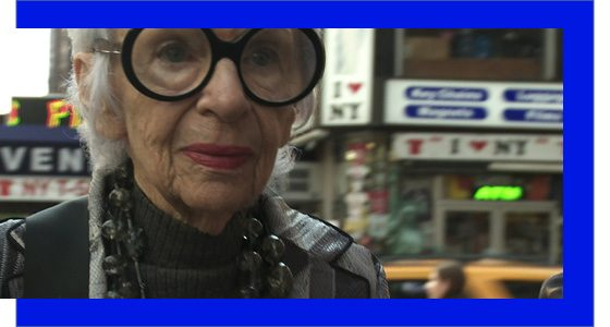 Iris Apfel in IRIS, a Magnolia Pictures release. Photo courtesy of Magnolia Pictures.
