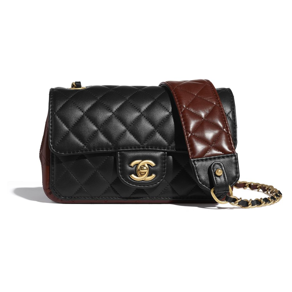 CHANEL BLACK AND BROWN BAG