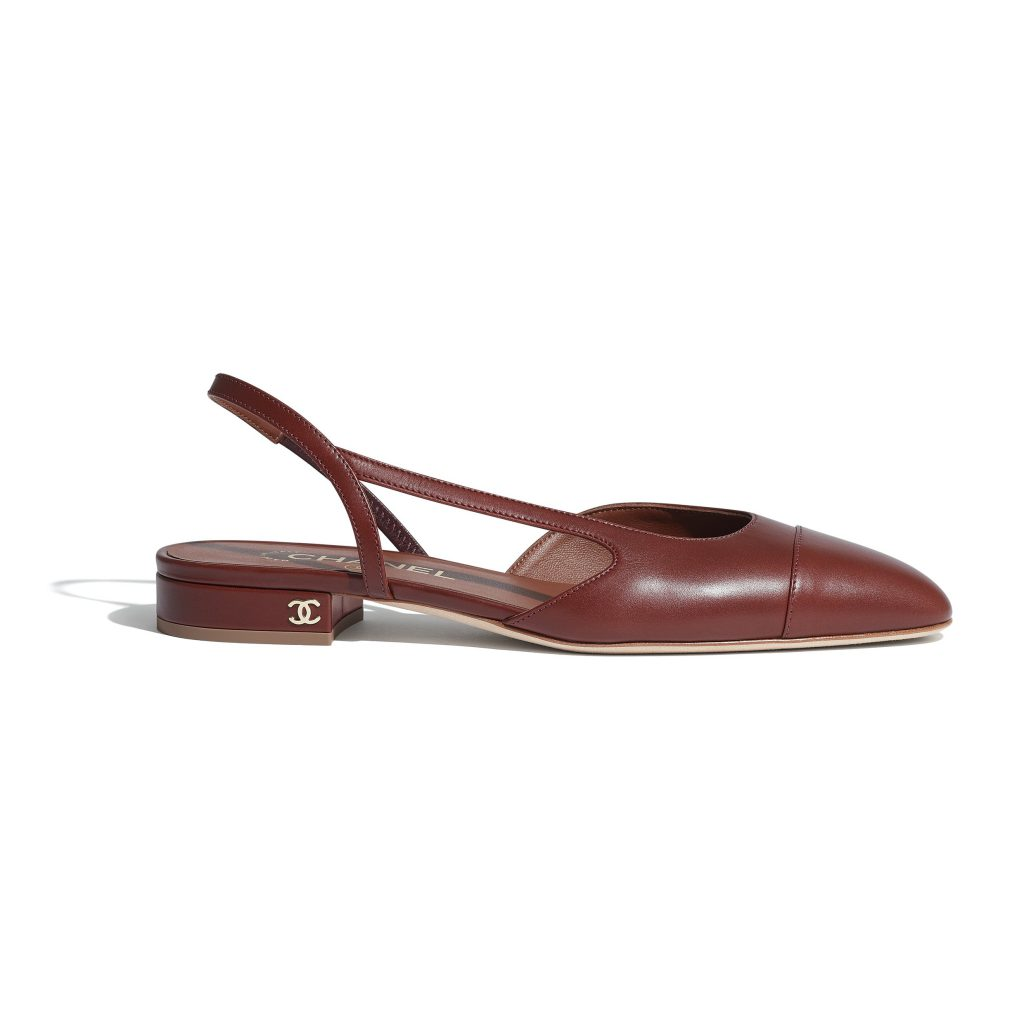 brown slingbacks chanel