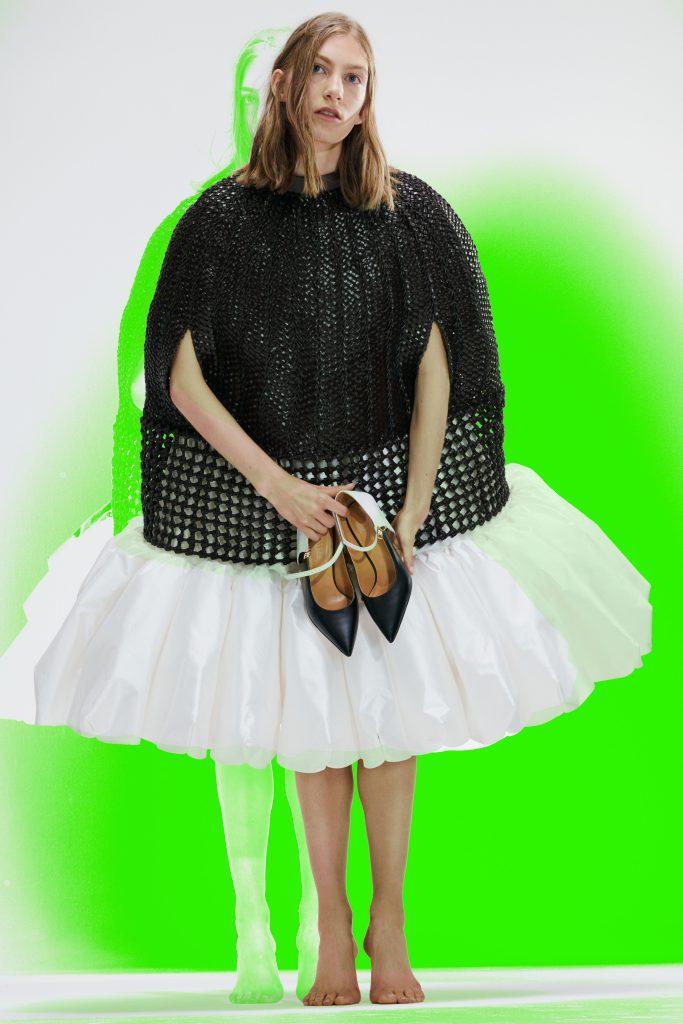 black and white dress loewe ss21