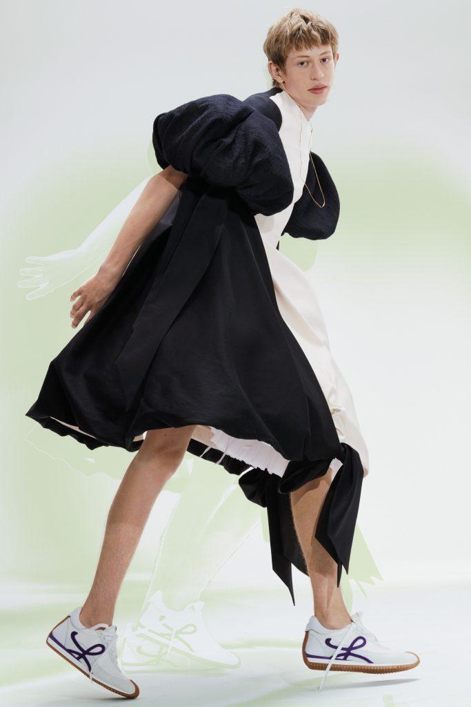 Loewe SS21 black and white dress