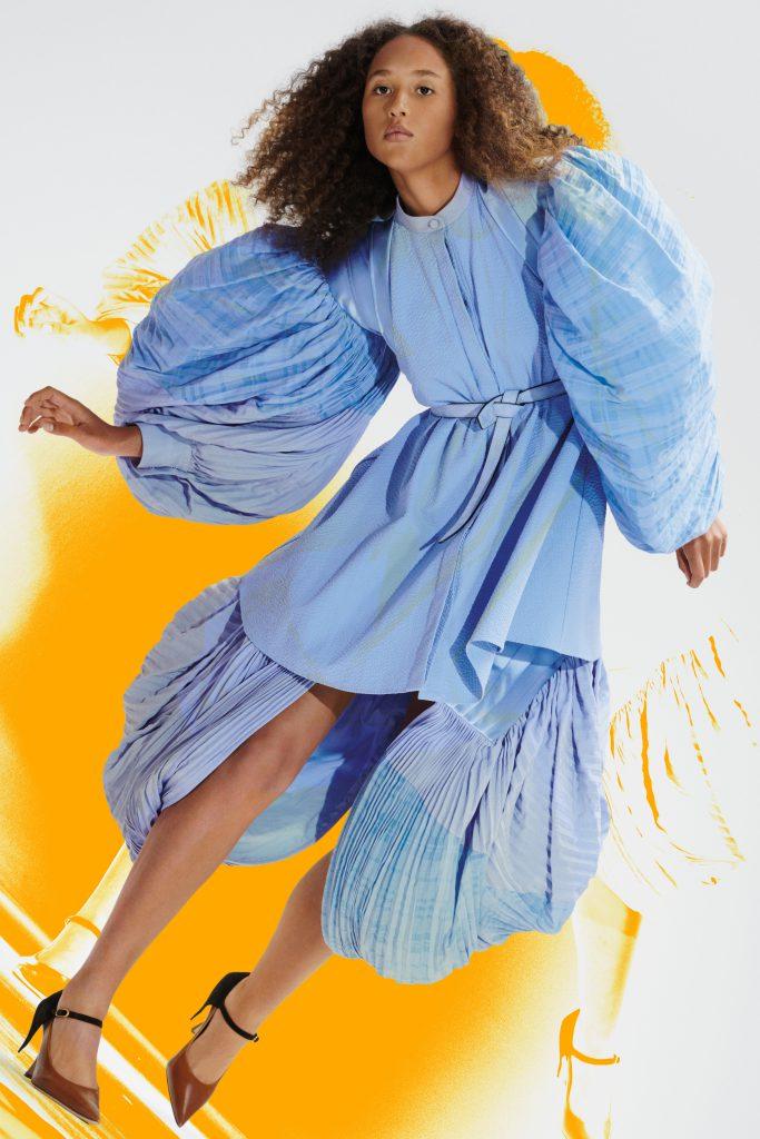 Loewe SS21 blue dress