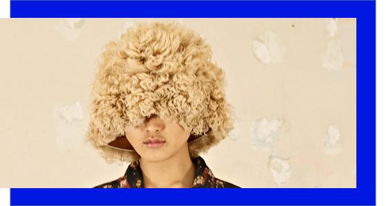 fuzzy bucket hat at acne studios fw2021